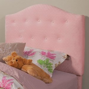 113HB Twin Button Tufted Upholstered Headboard in Pink - This button tufted headboard is wrapped in a soft pink fabric<br><BR>