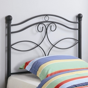 200HB Twin Metal Headboard - Twin size headboard in a dark matte finish <br><Br>Constructed from durable two inch metal tubing<br><BR>