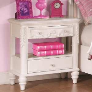 Item # 001NS Nighstand - Pink felt-lined top drawers<br><br> Dovetail construction and full extension glides ensures a solid drawer structure<br><br>