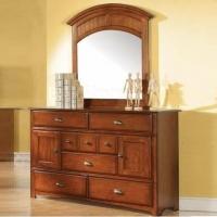 084M Mirror - Finish: Antique Oak<br><br>*Dresser Sold Separately*<br><br>Dimensions: 36