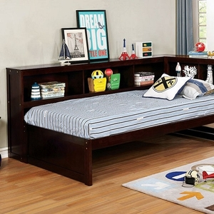 094DB Twin Day Bed - Style Transitional<br> Color/Finish Espresso<br> Material Solid wood, others, wood veneer<br> Product Dimension<br> Twin DayBed 88 3/8