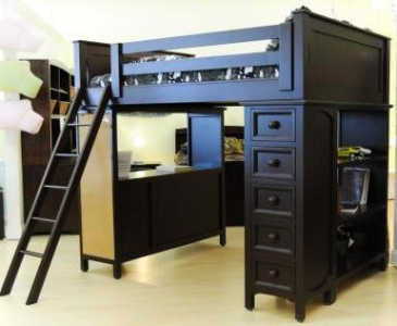 Item # 005 Spacesaver Loft Bed with Cork Board - Spacesaver loft bed Available in any color.