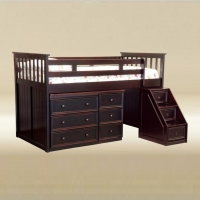 098 Junior Bed with Step and Desk
