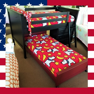 Item # US0019 Jr Loft Bed - Loft Bed w/ Ladder & Chest<br><br>Optional Twin Bed Underneath<br><br>Made in USA<br><br>Durable & Super Strong<br><br>Available in 33 Different Color<br><br>Modifications Available<br><br>Made to order<br><br>Available in Twin, Full, Queen Sizes