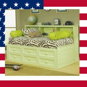 Item # US0025 Lounge bed - Made in USA<br><br>Durable & Super Strong<br><br>Available in 33 Different Color<br><br>Modifications Available<br><br>Different Knob & Drawer Front Options<br><br>Made to order<br><br>Available in Twin, Full and Queen Sizes<br>