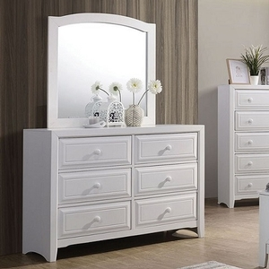 977M White Mirror - Style Transitional<br> Color/Finish White<br>