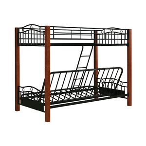Item # MLB019 Metal and Wood Casual Twin/Futon Bunk Bed