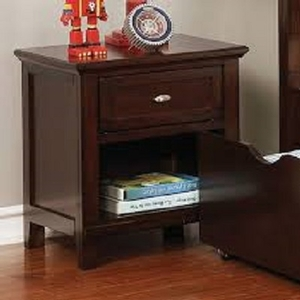 271NS Brown Cherry Nightstand - Style Transitional<br>