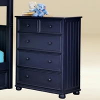 015LB Twin Loft Bed with Chest and Desk w/Corkboard in Blue