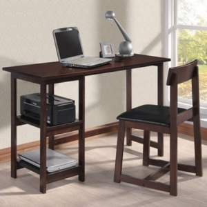 Item # A0053D - Finish: Espresso<br><br>Dimensions: Desk - 47 x 19 x 29H Chair - 31H
