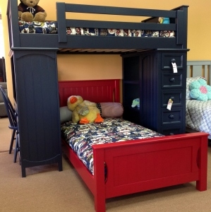 LB006 Xavier Loft Bed with Bottom Bed
