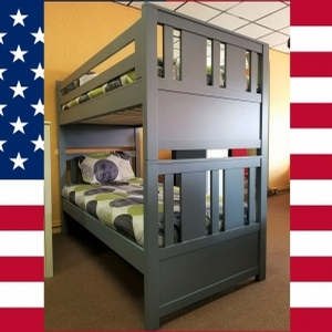 Item # US0022 Mod Bunk bed - Made in USA<br><br>Durable & Super Strong<br><br>Optional Trundle or Drawers<br><br>Available in 33 Different Color<br><br>Modifications Available<br><br>Made to order<br><br>Available in Twin, Full, Queen Sizes<br>