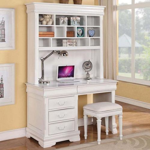 Item # 015HC Simple White Desk Hutch