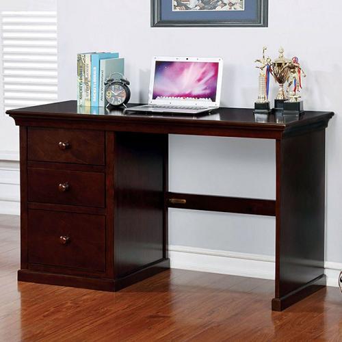 Item # 046D Small Desk w/ 3 Drawers in Dark Walnut