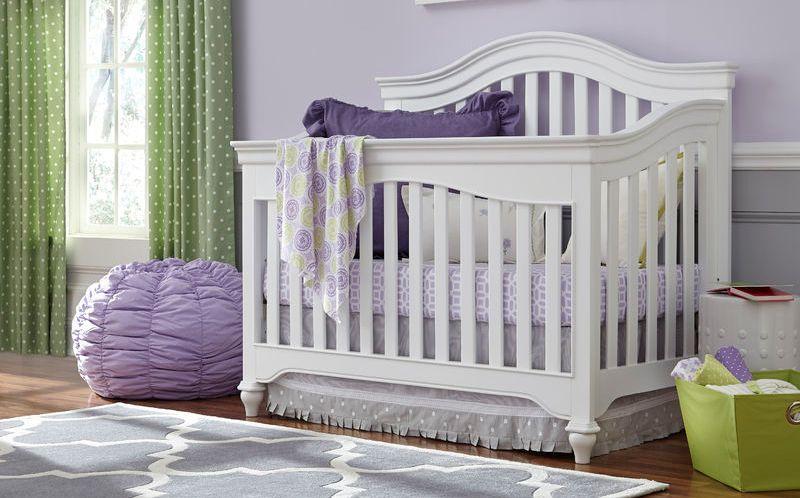 0120 Classic Summer White Arch Top Crib