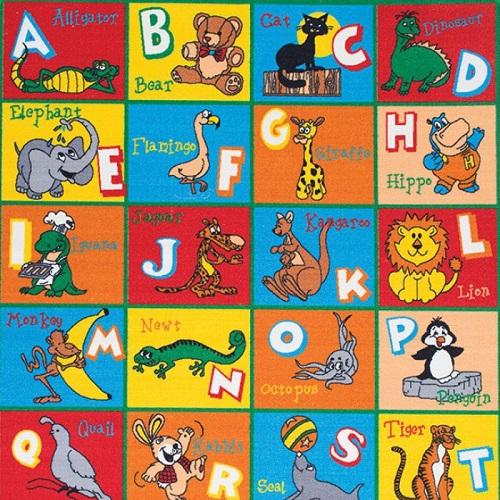 Item # 07 ABC'S Animal Rug