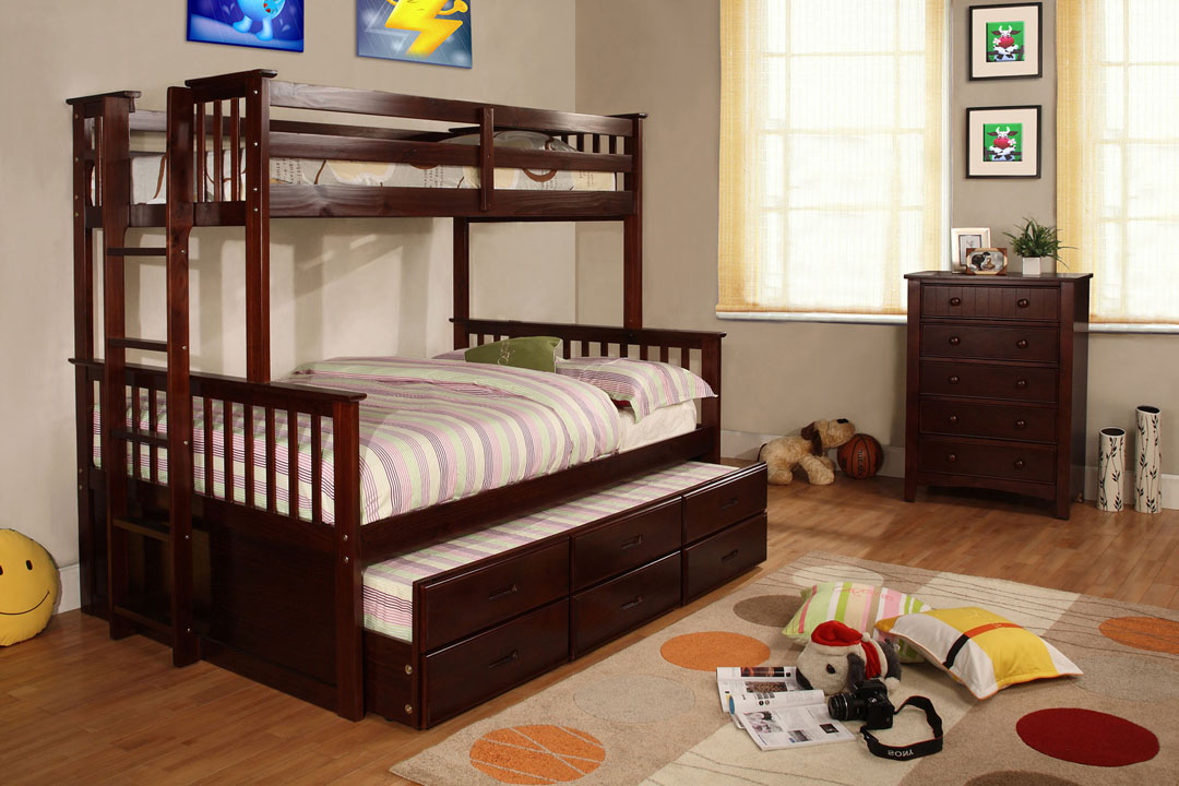 0034TR Twin Trundle with 3 Drawers