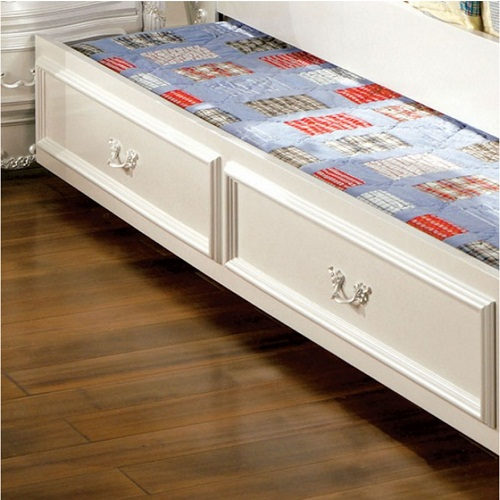 0017TR Pearl White Twin Trundle