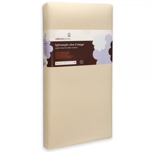 1001 Lightweight Organic Cotton Ultra 2-Stage Crib Mattress