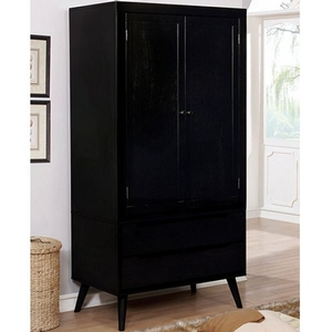 Item # 002AM Armoire - Finish: Black<br><br>Available in White<br><br>Dimensions: 36