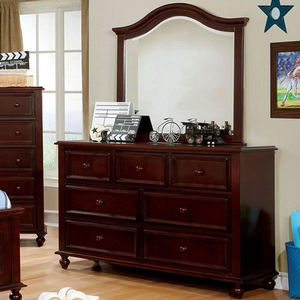 Item # 002DR 7 Drawer Dresser - Finish: Dark Walnut<br><br>Available in White<br><br>Dimensions: 53