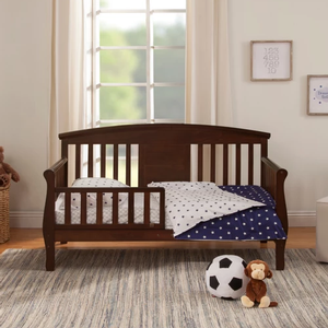Item # 004CT - Finish shown in Espresso<br>Available in White finish<br>Assembled Dimensions: 55.5 x 28.5 x 32.7<br>Assembled Weight: 34.1 lbs<br>Interior Crib Measurements: 52 x 28<br>Guardrail Measurements: 24.875 x 11 x 9.5
