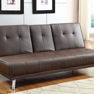 Item # 006FN Sofa Bed - Finish: Brown Bi-Cast Vinyl<br><br>Dimensions:<br><br>Sofa: 74 x 32.5 x 33.5H<br><br>Bed: 74 x 46.5 x 15.75H