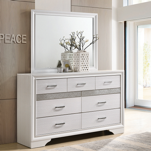 Item # 006DR - Finish: White<br><br>Mirror Sold Separately<br><br>Dimensions: 63W x 16.50D x 38.75H