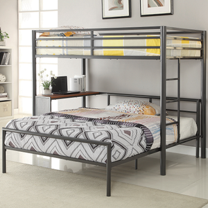 Item # 006MLB Full Bed with Sleek Lines - Finish: Dark Gunmetal<br><br>Twin Workstation Loft Bed Sold Separately<br><br>Dimensions: 56.25W x 77.50D x 30.25/19.75H