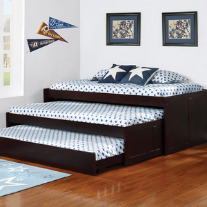Item # A0014WD - Finish: Cappuccino<br><br>Slat Kits Included<br><br>Dimensions: 80.50