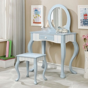 Item # 010V Elegant Country Style Vanity - Finish: Blue/White<br><br>Dimensions: Table: 34