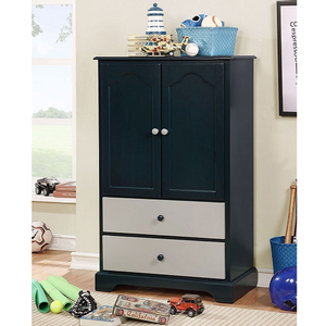 Item # 013AM Armoire w/ 2 Drawers in Blue - Finish: Blue<br><br>Available in Cherry & Gray<br><br>