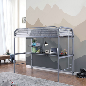 Item # 013MLB Twin Loft Bed - Finish: Silver<br><br>Available in Black finish<br><br>Dimensions: 78 3/8