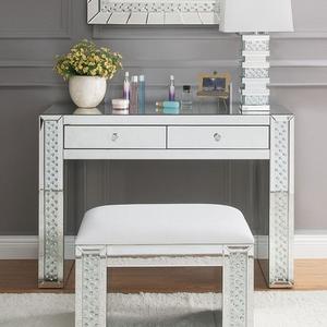 Item # 015V Sparkling Diamond Vanity Desk - Finish: Silver Finish<br><br>Mirror & Stool Sold Separately<br><br>Dimensions: 47