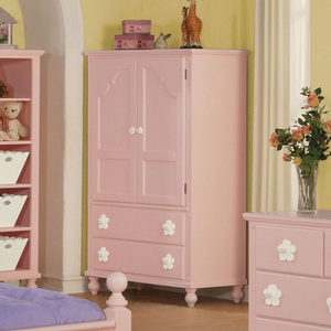 Item # 016AM Armoire - Finish: Pink<br><br>Dimensions: 40