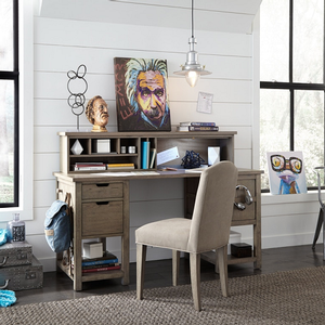 Item # 019HC Desk Hutch - Finish: Weathered Oak Finish<br><br>Desk sold separately<br><br>Chair sold separately<br><br>Dimensions: 58W x 10D x 12H