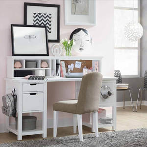 Item # 048D Desk - Finish: Natural White Paint<br><br>Chair sold separately<br><br>Hutch sold separately<br><br>Dimensions: 60W x 24D x 30H