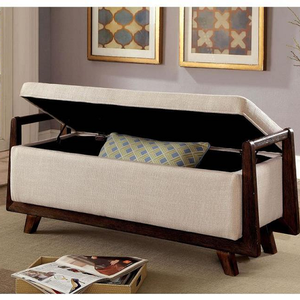 """Item # 004SB Storage Bench - Finish: Beige<br><br>Available in Grey & Light Grey Finish<br><br>Dimensions: 47 7/8W X 18D X 19 7/8H<br><br>SEAT DP: 18"""", SEAT HT: 17 3/4"""""""