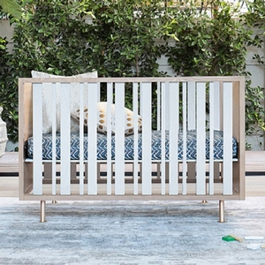 "Item # 007LUX - Dimensions<BR> Crib assembled dimensions: 55""W x 30""D x 29""H<BR> Crib assembled weight: 85 lbs<BR>"