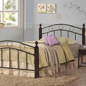 Item # A0002B - Twin Metal Bed<br>Finish: Cappuccino/Black<br>Dimensions: 42.50W x 79.50D x 35H