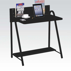 Item # 112D Computer Desk - Finish: Black<br><br>Dimensions: 31