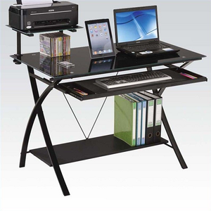 Item # 113D Computer Desk - Finish: Black<br><br>Dimensions: 43