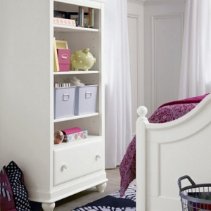 Item # 014BC Bookcase - Three adjustable shelves<br><br>Easy cord access<br><br>