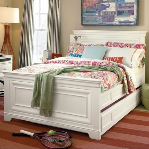 Item # 007FB Full Panel Bed - Headboard can be used separately<br><br>Built-in reading light<br><br>*Trundle sold separately