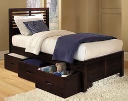 1348PR-1T Paula Collection Twin Bed with Three Storage Boxes