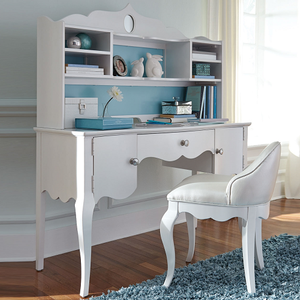 Item # A0079D - Finish: Pearlized White<br><br>*Hutch Sold Separately<br><br>Chair Sold Separately<br><br>Dimensions: 51W x 20D x 30H