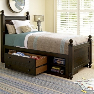 021S Storage Unit - Integrates into any bed<br><br>Usable on left or right side<br><br>One large drawer with removable divider<Br><Br>One adjustable shelf in each open area<br><br>One Storage Unit and one rail shipped per order<br><br>