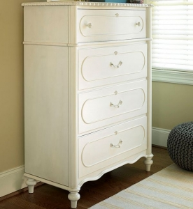 0407 Daisy White Drawer Chest - Assembled Dimensions: 38