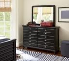 0518 Classic Black Dresser - Assembled Dimensions: 56