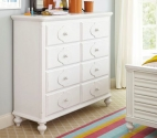0412 Classic White Dressing Chest - Assembled Dimensions: 50
